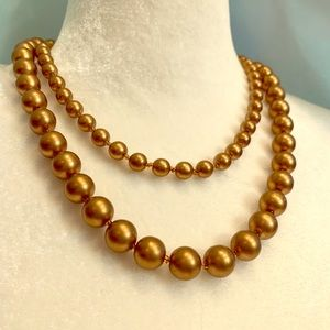 Fashion Jewelry copper toned pearls